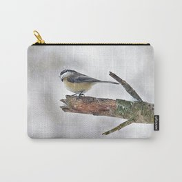 Chickadee Versus Winter Storm Stella Carry-All Pouch