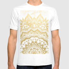 GOLD ORION JEWEL MANDALA MEDIUM Mens Fitted Tee White