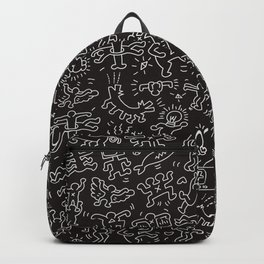 Doodles Homage to Keith Haring Black Backpack