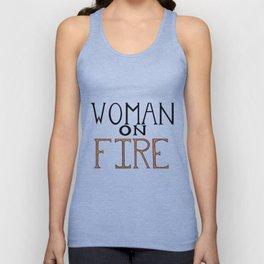 Woman On FIRE Unisex Tank Top