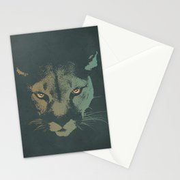 Mountain Lion Night Stationery Cards