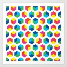 Cube pattern Art Print