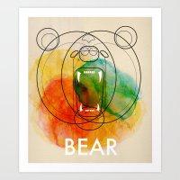 bear Art Prints featuring Bear by Alvaro Tapia Hidalgo