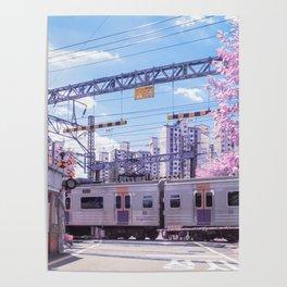 Seoul Anime Train Tracks Poster