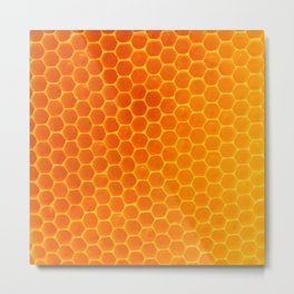 NATURES GOLDEN HONEYCOMB WAX ART PATTERN Metal Print