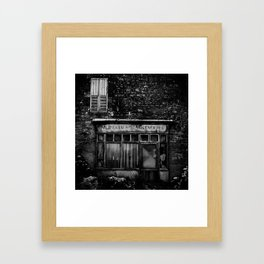 Old French Shop in Normandy Framed Art Print