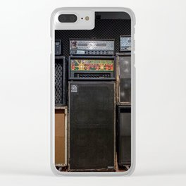 Heavy Metal Amp Stack Clear iPhone Case