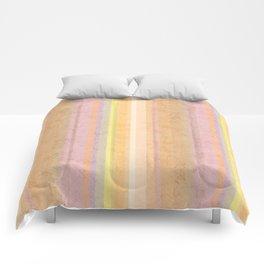 Multi-colored striped pattern .4 Comforters