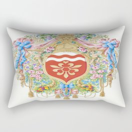 Versailles-style arms of the Chevalier d'Orleans Rectangular Pillow