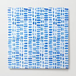 Abstract rectangles - blue Metal Print