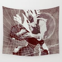 child Wall Tapestries featuring Mother & Child by DM Davis