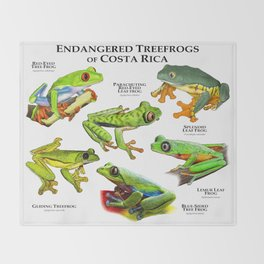 Endangered Treefrogs of Costa Rica Throw Blanket