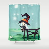 bubbles Shower Curtains featuring Bubbles by Freeminds