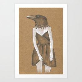 ANIMAL INSTINCTS -BIRD GIRL Art Print