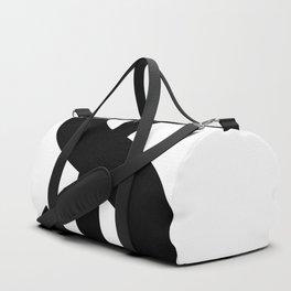 Dollar Sign (Black & White) Duffle Bag