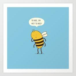 confused bee Art Print