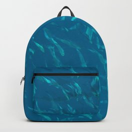 School of fish in the blue Backpack