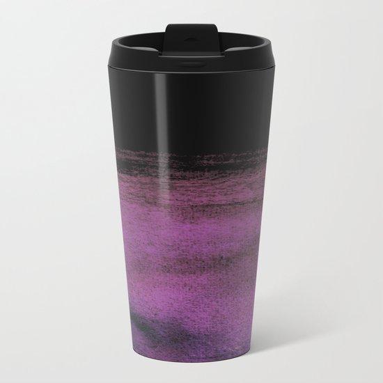 Purple and Black Metal Travel Mug