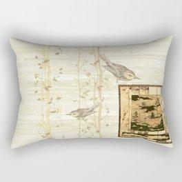 Bird On Screen Rectangular Pillow