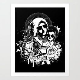 Holy punk family Art Print