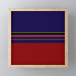 Bold Rainbow Stripe Design Framed Mini Art Print