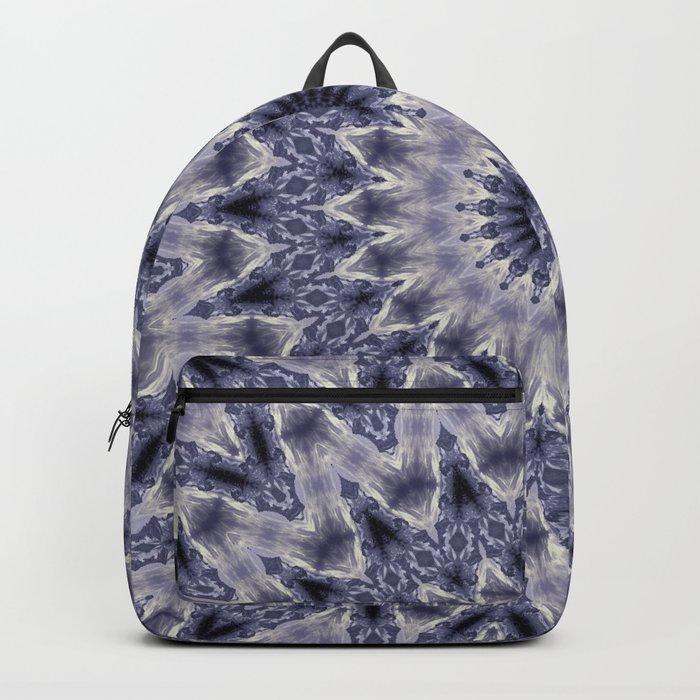 Purple gray mandala Backpack
