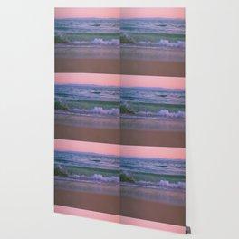 Pink Sunset Ocean Wallpaper