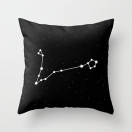 Pisces Star Sign Night Sky Throw Pillow