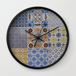 Porto Tiles Collage Wall Clock