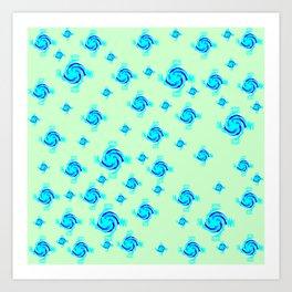 Estampa usando circulos Art Print