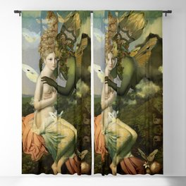 """The body, the soul and the garden of love"" Blackout Curtain"