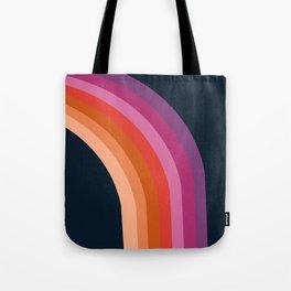 Tubular - retro throwback 70s style rainbow colorful trendy 1970's art decor Tote Bag