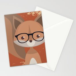 Hipster Squirrel Stationery Cards