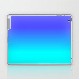 Neon Blue and Bright Neon Aqua Ombré Shade Color Fade Laptop & iPad Skin