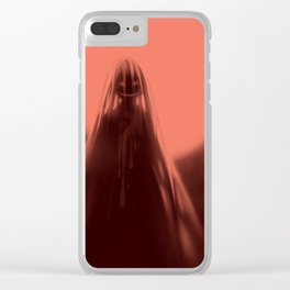 Red Moon (#Drawlloween2016 Series) Clear iPhone Case