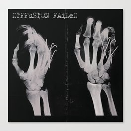 Diffusion Failed Canvas Print