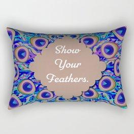 Show Your Feathers! Rectangular Pillow