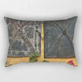 Old house with red roses Rectangular Pillow