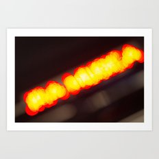 Orange Lights Art Print