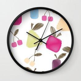Funny cartoon Fruits Wall Clock