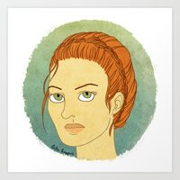 lydia martin Art Prints featuring lydia martin by billa