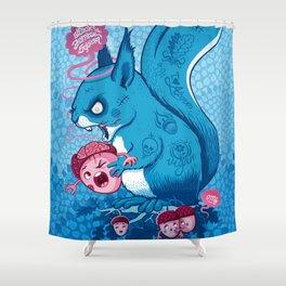 Zombie Squirrel Shower Curtain