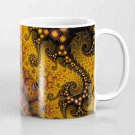 Golden dragon spirals and circles, fractal art Coffee Mug