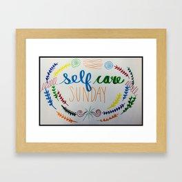 Self Care Sunday Framed Art Print