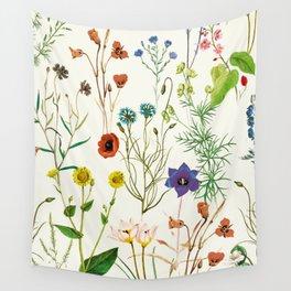 Botanical floral Vintage Print Wall Tapestry
