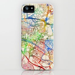Glasgow Street Map iPhone Case
