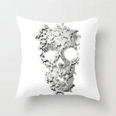 Simple Skull Throw Pillow