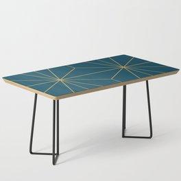 Peacock blue geometrical pyramid Coffee Table