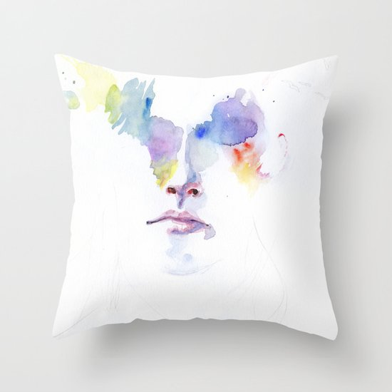 headlights eyes Throw Pillow
