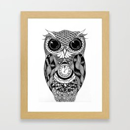 Owl of Time Framed Art Print